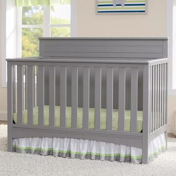 Delta Children Fancy 4-in-1 Convertible Crib, Grey, INFANT
