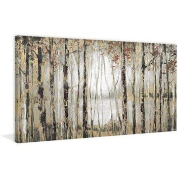 "Parvez Taj ""Autumn Lake"" Painting Print on Wrapped Canvas"