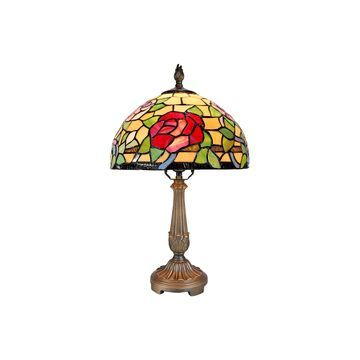 Dale Tiffany King Rose Glass Table Lamp