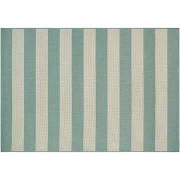 Couristan Afuera Yacht Club Striped Indoor Outdoor Rug, Multicolor, 6.5X9.5 Ft