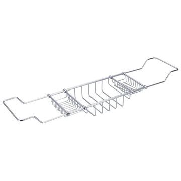 Water Creation Expandable Bath Caddy For The Elegant Tub in Chrome Finish