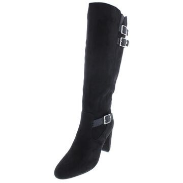 Rialto Womens Collins Faux Suede Dress Knee-High Boots