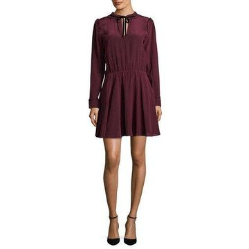 The Kooples Womens Silk Ruffle Dress