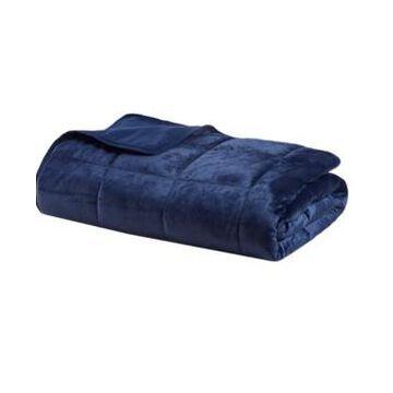 "Sleep Philosophy Mink to Microfiber Weighted Blanket, 48"" x 72"" - 15 lbs Bedding"