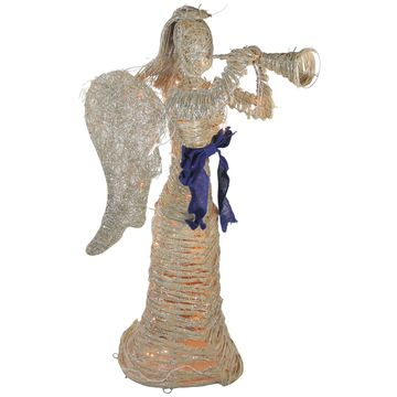 Northlight Dusted Angel with Horn Christmas Yard Decoration