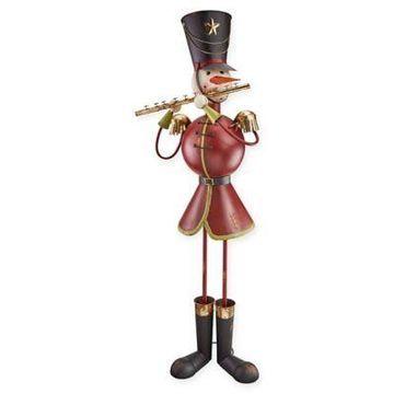 Design Toscano Metal Flautist Snowman Statue