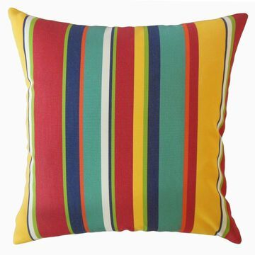 The Pillow Collection Xanto Striped Decorative Throw Pillow