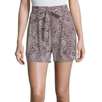 Worthington Womens Front Tie Short