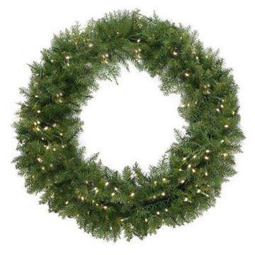 Northlight 48-Inch Northern Pine Pre-Lit Wreath with Clear Lights