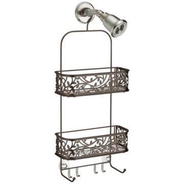 Interdesign Bronze Vine Shower Caddy Bedding