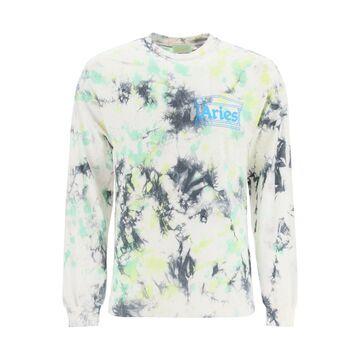 Aries tie-dye t-shirt with logo print