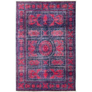 Solo Rugs One-of-a-kind Suzani Hand-knotted Area Rug 6' x 9'