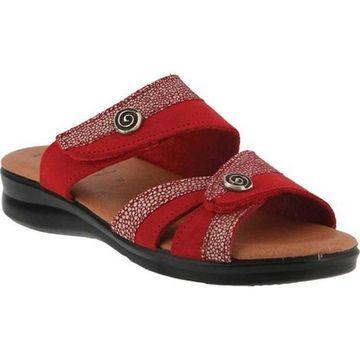 Flexus by Spring Step Women's Quasida Slide Sandal Red Multi