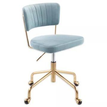 LumiSource Tania Task Chair in Blue/Gold