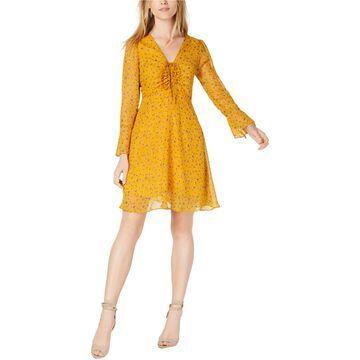 maison Jules Womens Floral A-line Dress
