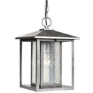 Sea Gull Lighting Hunnington Outdoor Pendant Light with Clear Seeded Glass - Color: Matte - Size: 1 light - 62027-57
