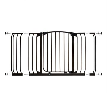 Dreambaby& Chelsea Hallway Auto Close Stay Open Security Gate Value Pack in Black