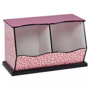 Teamson Kids Giraffe Prints Miranda Cubby Storage in Pink/Black