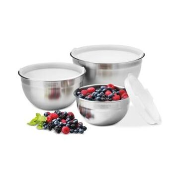 Cuisinart Stainless Steel Mixing Bowls with Lids, Set of 3