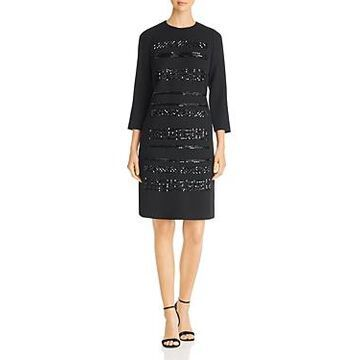 Lafayette 148 New York Giovanetta Embellished Dress