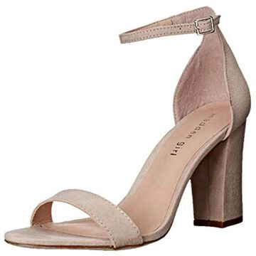 Madden Girl Womens Beella Fabric Open Toe Casual Ankle Strap, Blush, Size 6.0 - 6