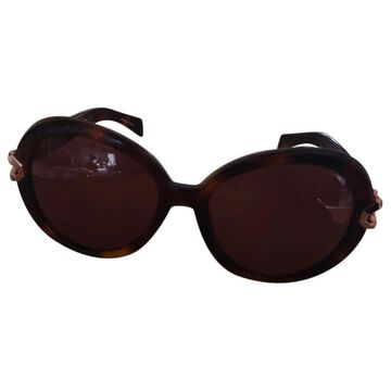 Thierry Mugler \N Brown Plastic Sunglasses