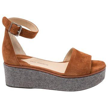 Paul Andrew \N Brown Suede Sandals