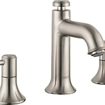 Hansgrohe Talis C Brushed Nickel 2-Handle Widespread WaterSense Bathroom Sink Faucet with Drain   14113821