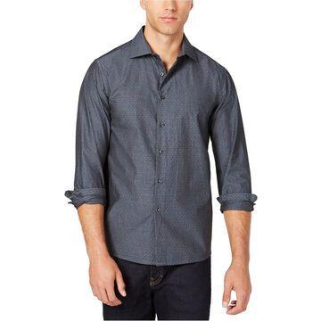 Tallia Mens Micro Print Button Up Shirt