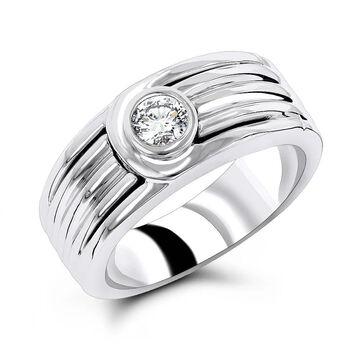 Luxurman 14K Gold 1/6ct Diamond Wedding Band