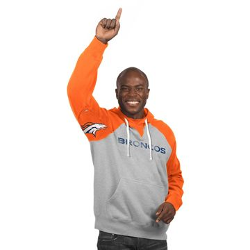 Denver Broncos Hands High Pullover Hoodie - Heather Gray