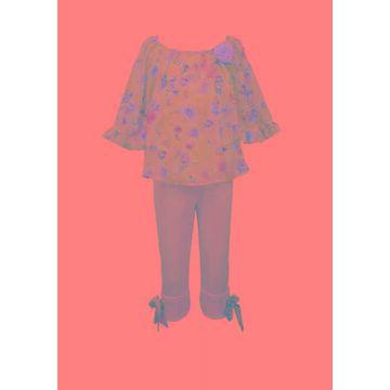 Bonnie Jean Girls' Toddler Girls Butterfly Sleeve Woven Pants Set - -