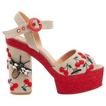 Castaner Beige Cloth Sandals