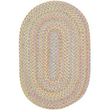 PT03R024X096 2 x 8 in. Playtime Sand Beige & Multicolor Oval Rug