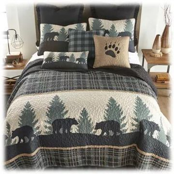Donna Sharp Bear Walk Plaid Bedding Collection Quilt