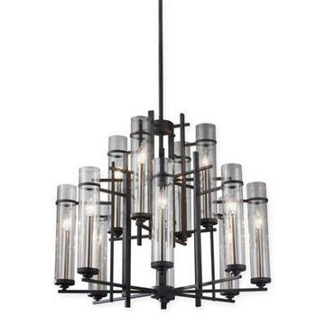 Feiss 12-Light Chandelier in Antique Iron