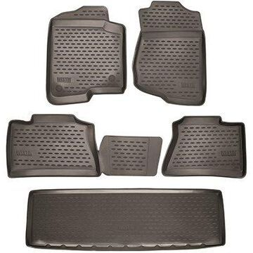 2015 GMC Yukon XL Westin Profile Floor Liners & Mats, Front, 2nd, and 3rd Row Floor Liners in Black