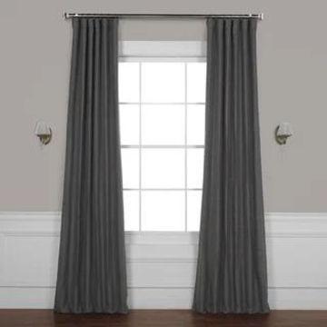 Exclusive Fabrics Bellino Blackout Curtain (50 X 84 - Armour Grey)