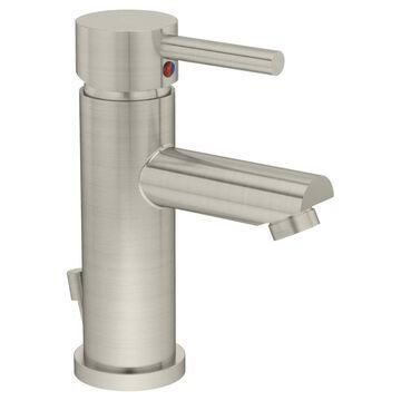 Symmons Dia Satin Nickel 1-handle Single Hole WaterSense Bathroom Sink Faucet with Drain