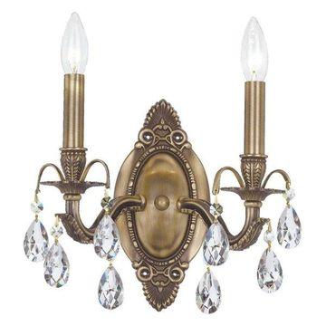 Crystorama Dawson Wall Sconce, Antique Brass