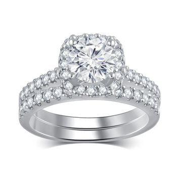 Divina 14k White Gold 1 3/4ct TDW Diamond Bridal Set