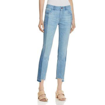 DL1961 Womens Mara Ankle Jeans Two-Tone Raw Hem