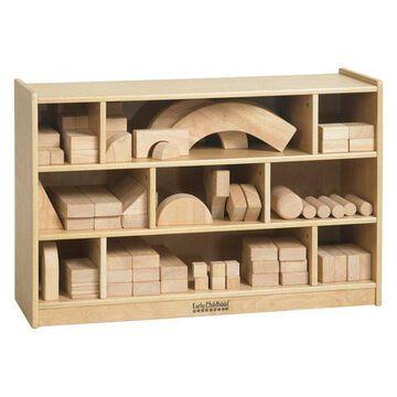 Ecr4Kids Kids Wooden Block Storage Organizer Cabinet, Medium