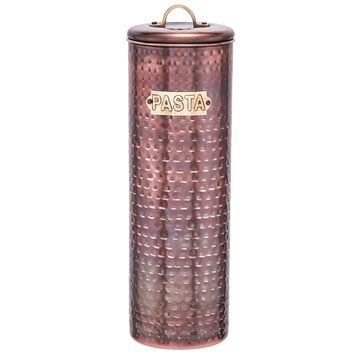 Old Dutch Hammered Copper 12-inch Antique Pasta Canister