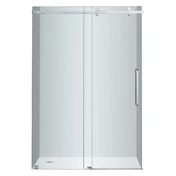 Aston Moselle Frameless Sliding Shower Door, Chrome, 48