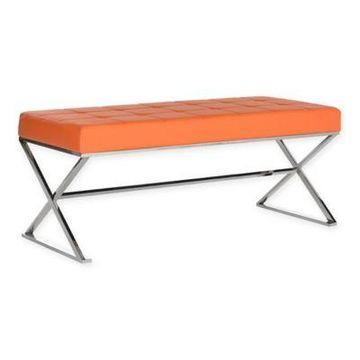 Safavieh Micha Bench in Orange