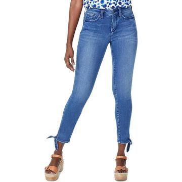 NYDJ Womens Skinny Jeans Denim Tie-Hem