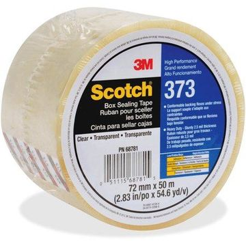 Scotch, MMM37372X50CL, 373 Box Sealing Tape, 24 / Carton, Clear