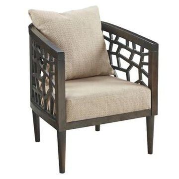 INK+IVY Upholstered Chair in Tan