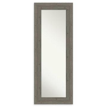 Amanti Art Fencepost Wood Framed On The Door Mirror